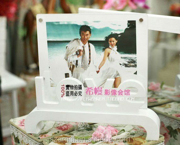 Customized open hot sexy girl photo or photo picture frame