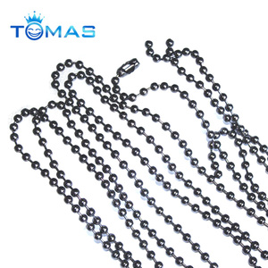 Guangzhou custom metal 1.5mm ball chain spool
