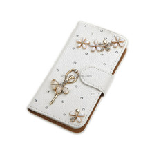 2017 Hot Product For Galaxy S7 S8 Note8 PU Leather Card Slot Stand Book Style Crystal Bling Diamond Wallet Flip Phone Case Cover
