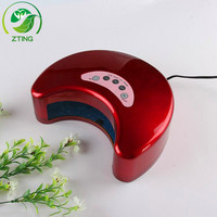 CE&ROHS certificated led nail lamp 12w professional led nail lamp moon shape led nail dryer