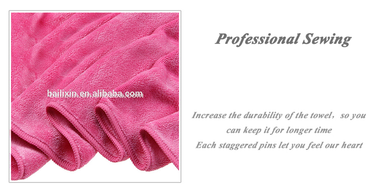 High quality solid color hair microfiber towel cloth