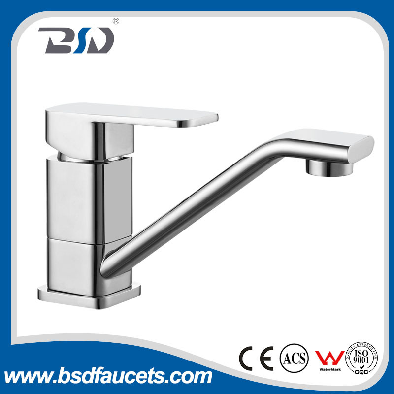 Deck Mounted Brass Elegant Single Lever Sink Kitchen Faucet Mixer