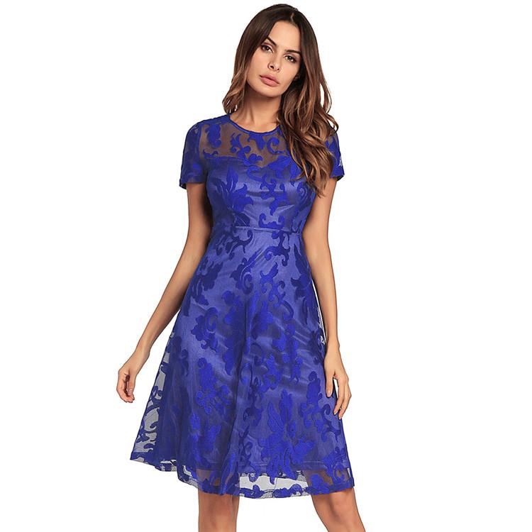 Venta al por mayor vestido coctel azul-Compre online los mejores ...