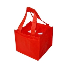High Quality Unique Design Twisted Non Woven Handle Bottle Packing Wine Kraft Bag