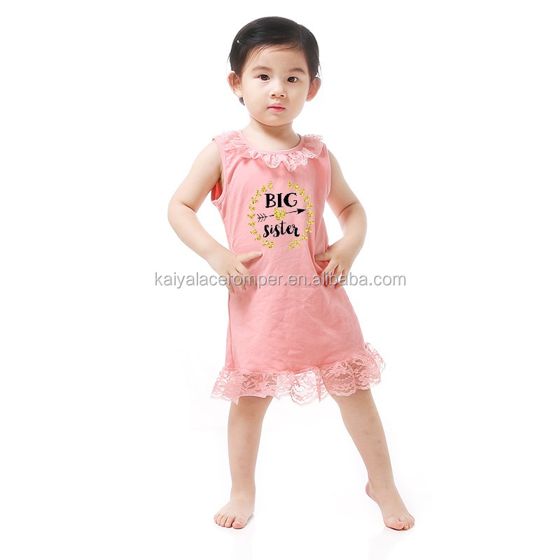 2016 Wholesale Baby Frock Design Picture Kaiya 100% Cotton Girl Baby Maxi Dress