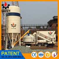 Low cost wet ready mixed concrete batching plant machine 35m3/h