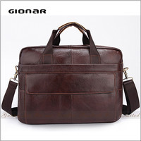 Hot selling high level new design crocodile shoulder bagmen laptop bag