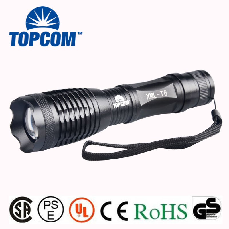 High Power Zoom 10W CreeLED Fast Track Flashlight Torch