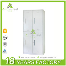 Chinese high quality dormitory furniture steel clothes locker metal 4 door wardrobe