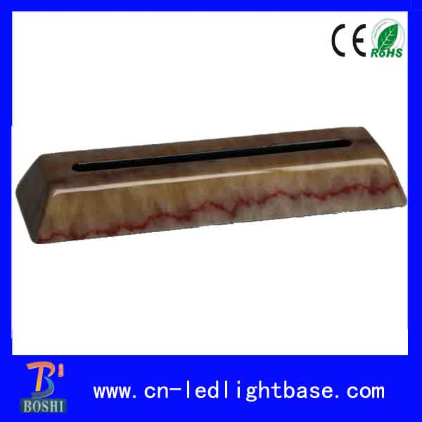 Piano lacquar marble finish wood base led light display for 6