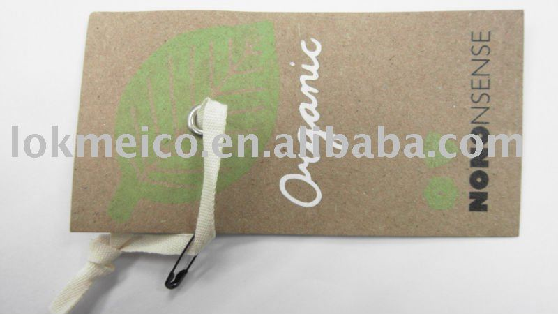 Recycle Hang Tags -Organic materials