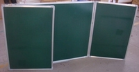 Folding classroom green board with ABS corners