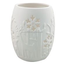 A big lots sale Ceramic Table Top Candle Light for christmas ornaments