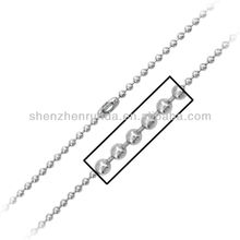 "Wholesale Fashion Cheap 20"" Inox Stainless Steel Ball Chain with Simple Connector Necklace Jewelry"