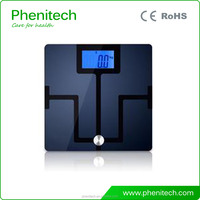 Tempered Safety Glass Electronic Weighing Scales Home Body Fat Scale With Bluetooth