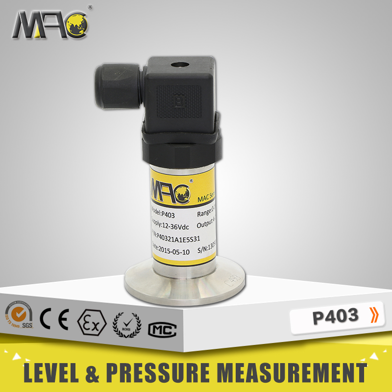 P403 Clamp type Sanitary Pressure Transmitters and Pressure Transducers