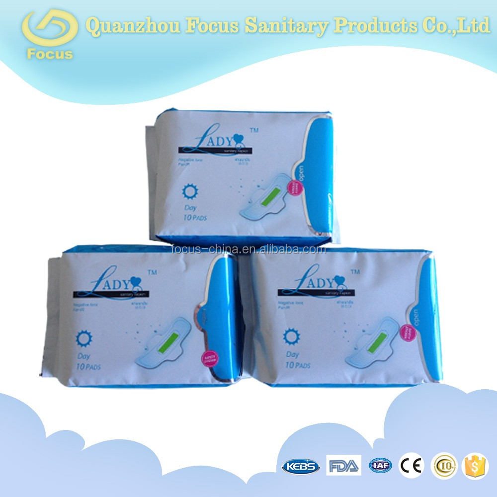 High absorption ultra thin cotton disposable Menstruation sanitary pads sensitive