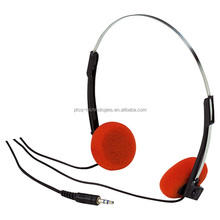 PTCQ Orange Stereo Lightweight school Headphones