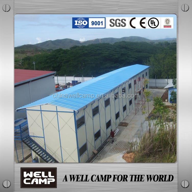 China Two Floor Prefabricated Building Supplies/ Steel house in Babu New Guinea