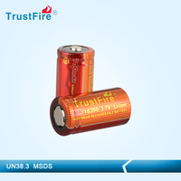high drain E-cig battery trustfire imr18350 700mah deep cycle battery 3.7v rechargeable battery made in china