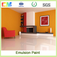 High quality wholesale emulsion/ latex house paint waterproof interior wall paint