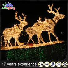 3d led warm white christmas outdoor decoration motif lights reindeer