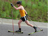 Cross country skiing without snow
