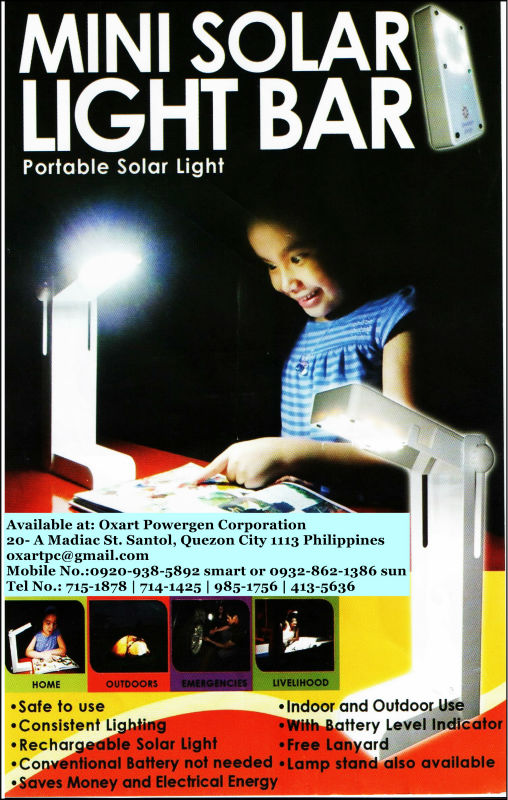 mini solar light bar