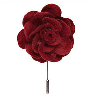 metal crafts flower brooch for women