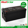 Competitive Price 12V 200Ah Rechargeable Solar