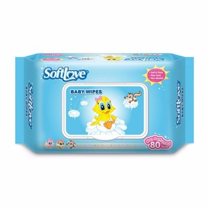 Softlove wholesale oem antibacterial cleaning disposable dry baby wipes