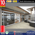 with tempered double pane lift up sliding door