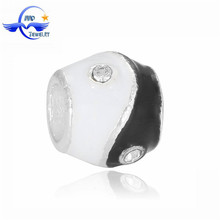 Fashion Jewellery Import Accessories Custom Ying Yang Charms European Large Hole Alloy Beads