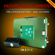 Ultra light ultra thin deep cycle 18650 12v 50ah li-ion battery with charger