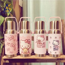 Lovely thermos cup KT bounce cover children's creative cartoon cup customized infuser plastic joyshaker sport water bottle