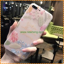 Flower pattern Matte Blank soft tpu phone case for iphone 6