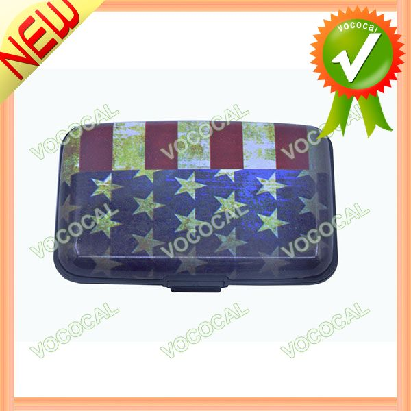Waterproof the U S Flag Pattern Credit Bussiness Card Case Holder