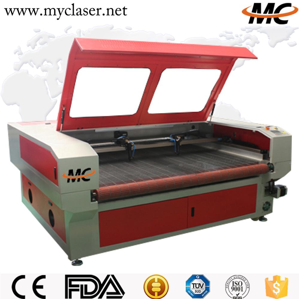 MC 1810 fast speed automatic textile fabric roll laser cutting machine
