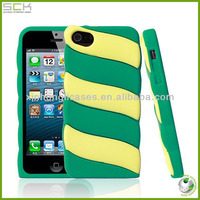 made in china cute stripes sicillione mobile phone case cover for iphone 5