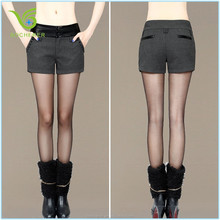 New fashionable grey splicing women autumn short pants