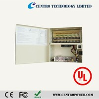 Cctv power meter box with Ul DC12V 10A 18CH CCTV Camera Power supply