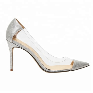 New design sexy ladies removable high heels transparent party shoes for women