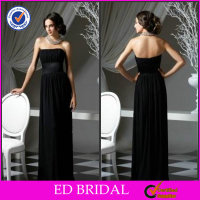 A-line Simple Black Chiffon Garden Wedding Mother Of Bride Dresses For Sale