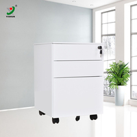 Office furnitue 3 drawer mobile pedestal cabinet metal file cabinet drawer cabinet