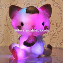 Cat Flashlight Glow-in-the-dark led light up teddy bear plush toy