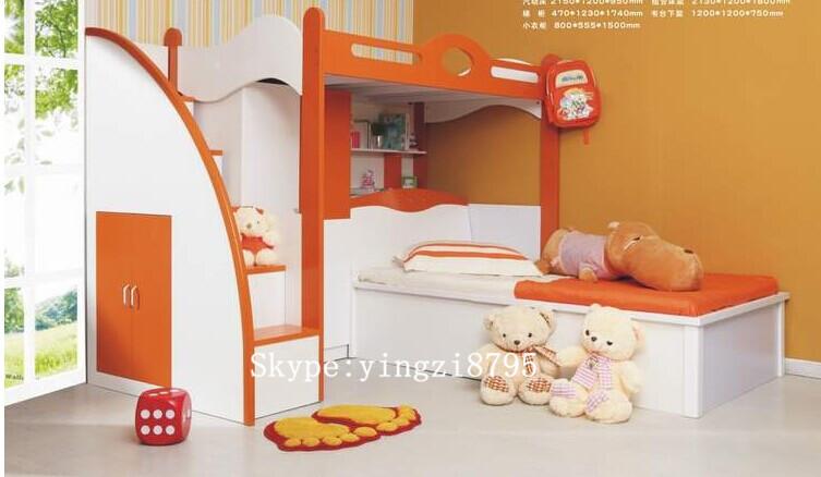 아이 조합 침대의 뼈대 아이 이층 침대 작은 옷장 어린이 침실 ...