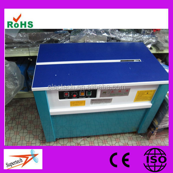 CE Certification Semi Auto Electric Lumber Strapping Machine