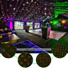 Red and green double color garden led spot lights christmas laser projector for wall decoration