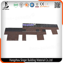 Chinese Manufacture Competitive Price Fiberglass Modified Bitumen , 3-tab Blue Asphalt Roofing Shingles