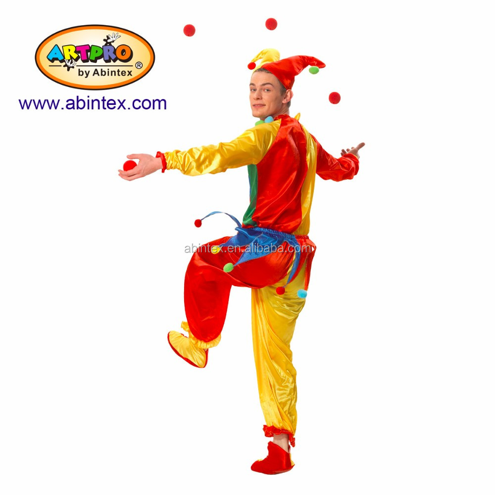 clown costume (08-363) for adult lady, clown costume (08-364) adult man with ARTPRO brand
